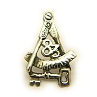 Sterling Silver Lodge 83 Pin