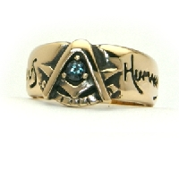 The 14K Yellow Gold Past Master's Brotherhood Ring