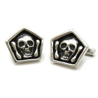 Sterling Silver Mortality Cufflinks
