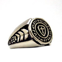 The Templar Seal Ring 14K White Gold