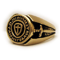 The Templar Seal Ring 14K Yellow Gold