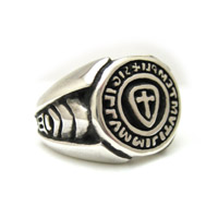 The Templar Seal Ring Sterling Silver