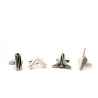 The Silver Working Tools Shirt Studs
