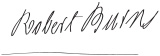 Robert Burns' Signature