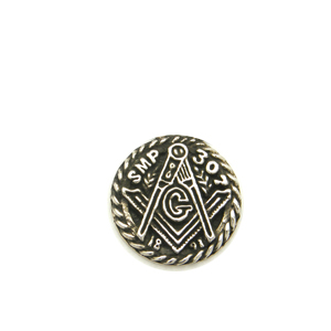SMP307 Pocket Coin, Sterling Silver