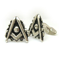 The Silver Past Master's Cufflink Set