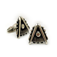 The Silver Past Master's Cufflink Set - Quadrant Only