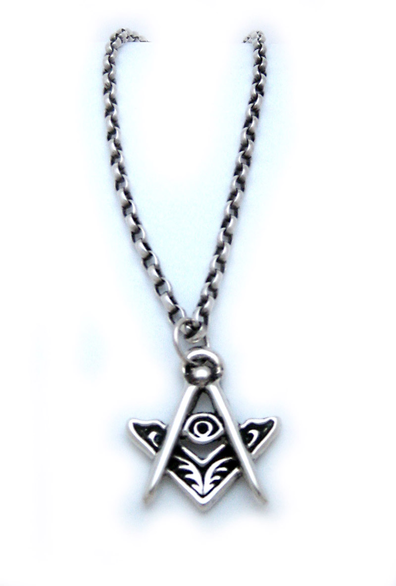 The masters jewel masonic the three points of light pendant the three points of light pendant in sterling silver with the all seeing eye of god in the center with a 20 chain mozeypictures Images