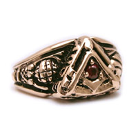 The 14K Yellow Gold Past Master's Vide, Aude, Tace Ring