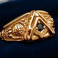 The Vide, Aude, Tace Ring - 18K Yellow Gold